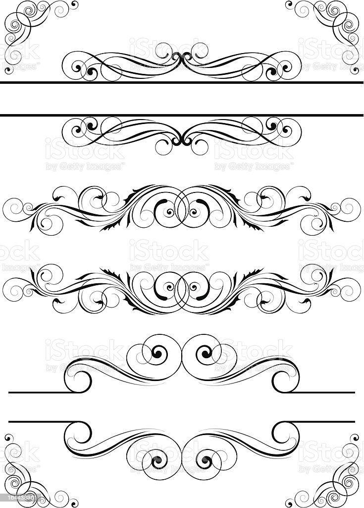 Frame and corner royalty-free stock vector art
