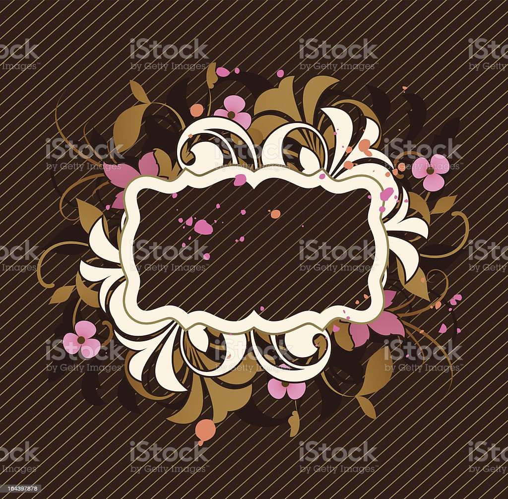 Frame is decorated design elements royalty-free stock vector art