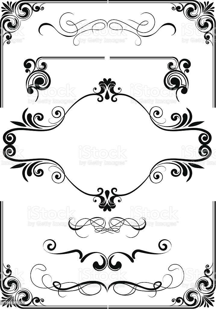 Frame ornament and element royalty-free stock vector art