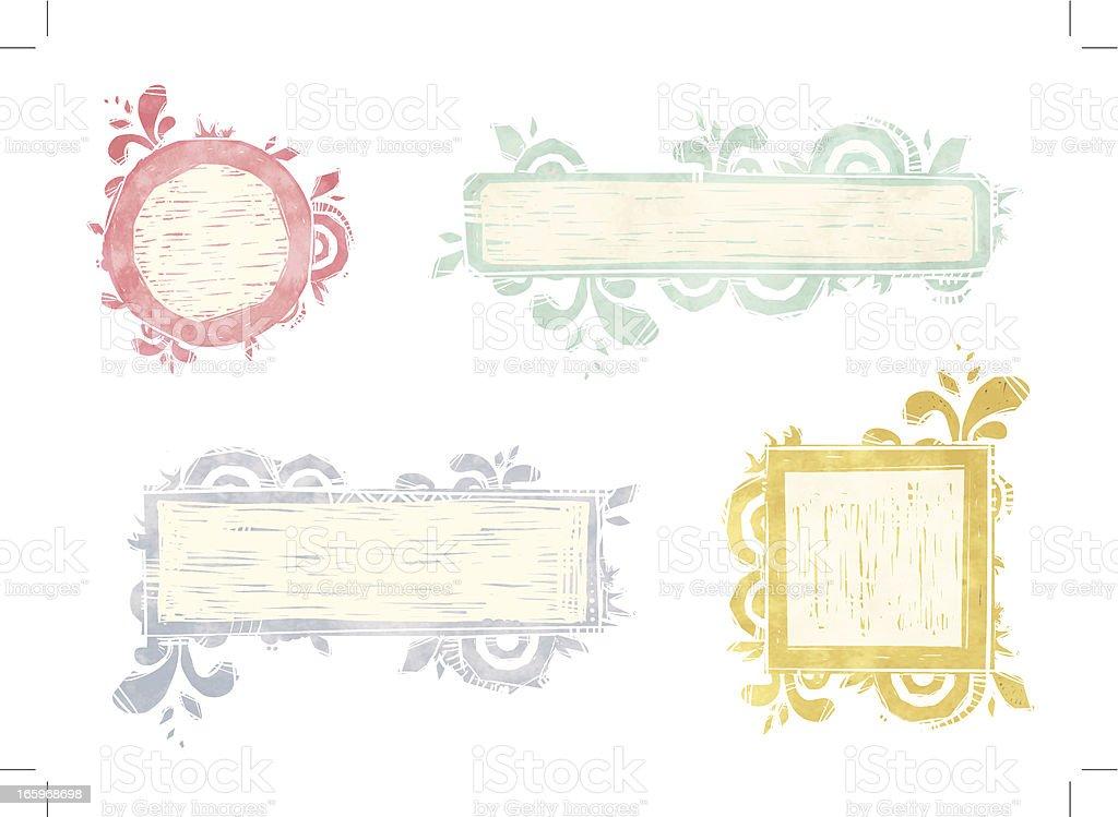 Frame set royalty-free stock vector art