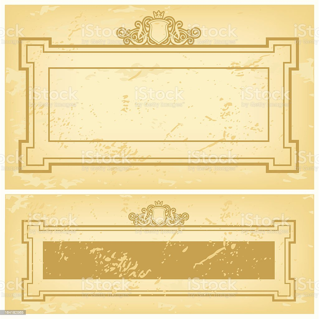 Frame Shield And Crown royalty-free stock vector art