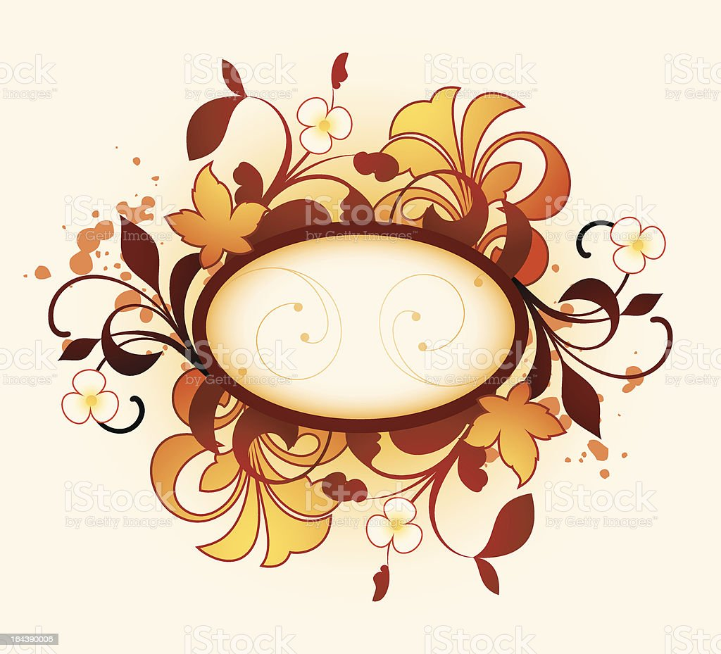 Frame with floral elements royalty-free stock vector art