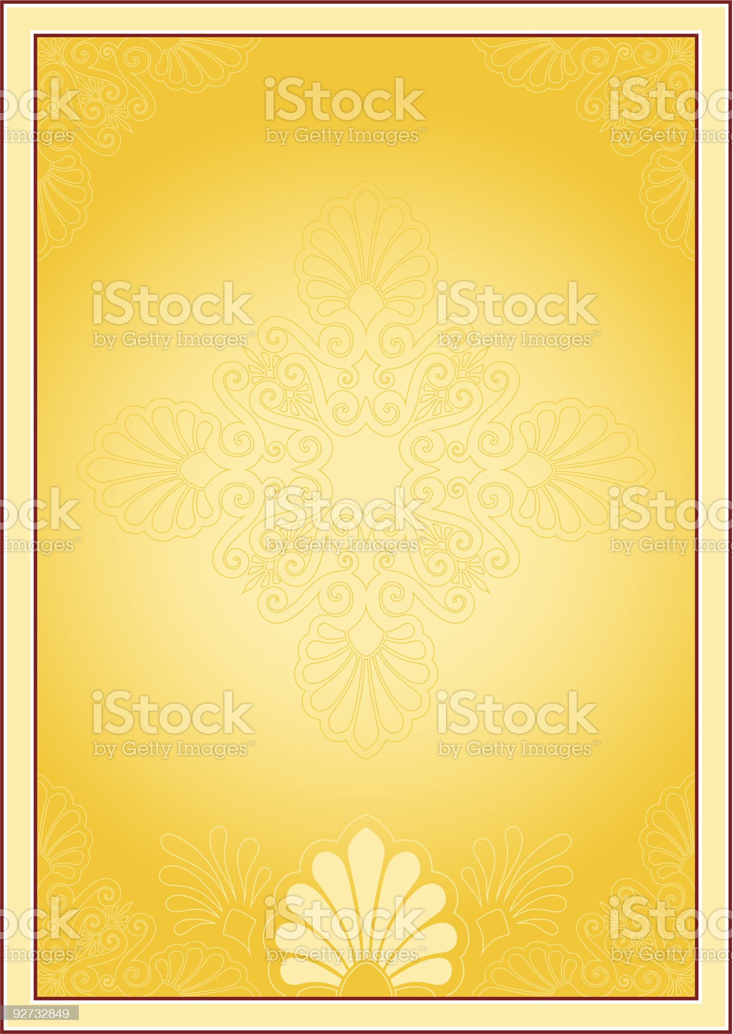 Frame with ornamental design royalty-free stock vector art