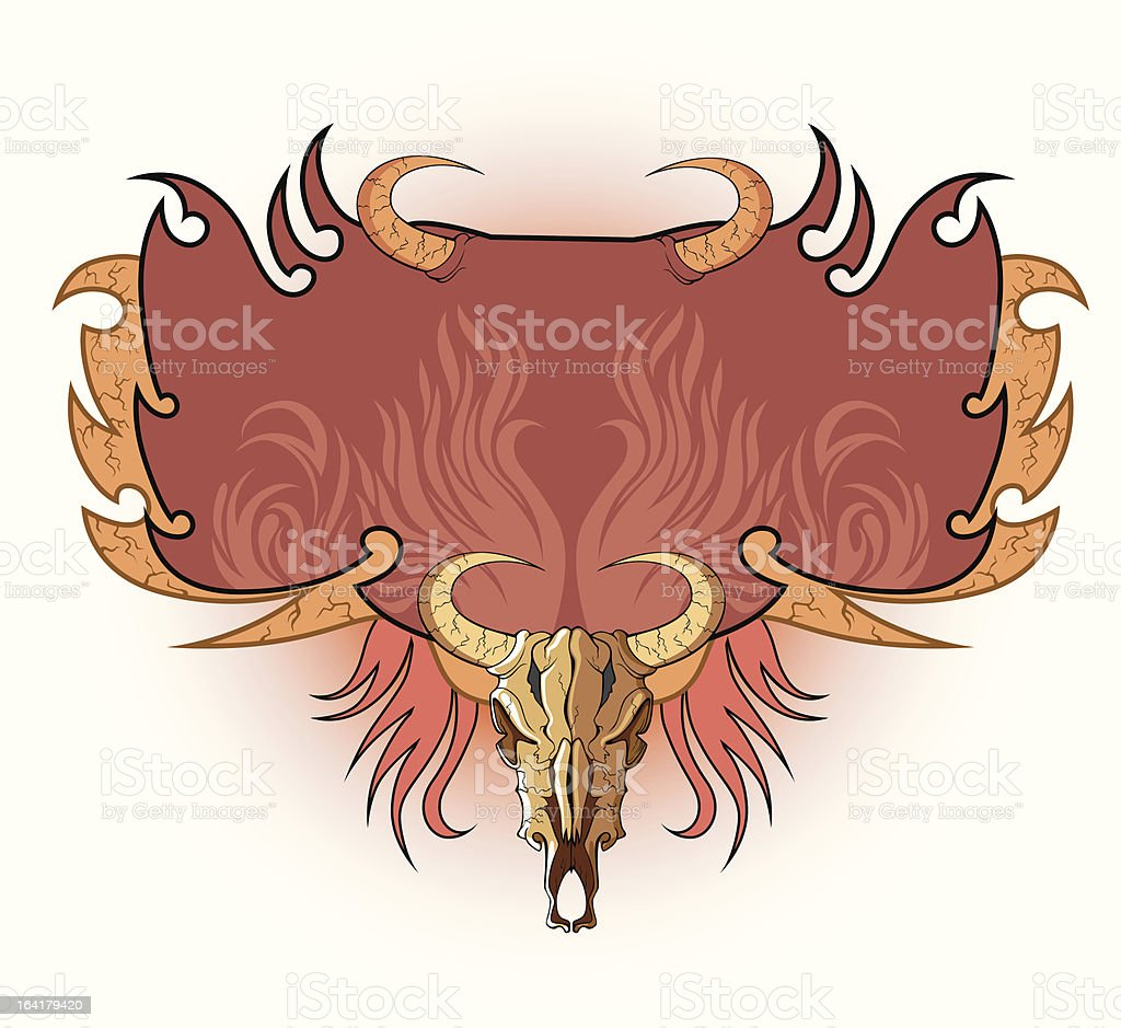 Frame with skulls royalty-free stock vector art
