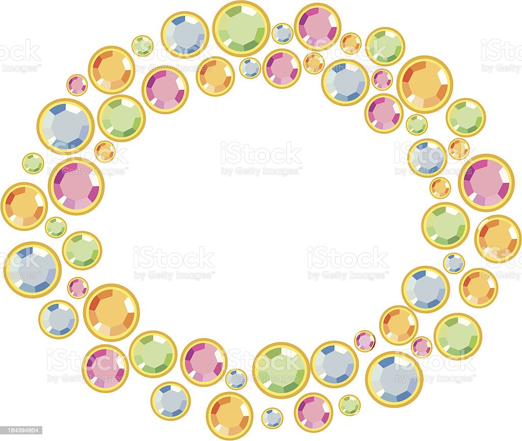 Frame with strass royalty-free stock vector art