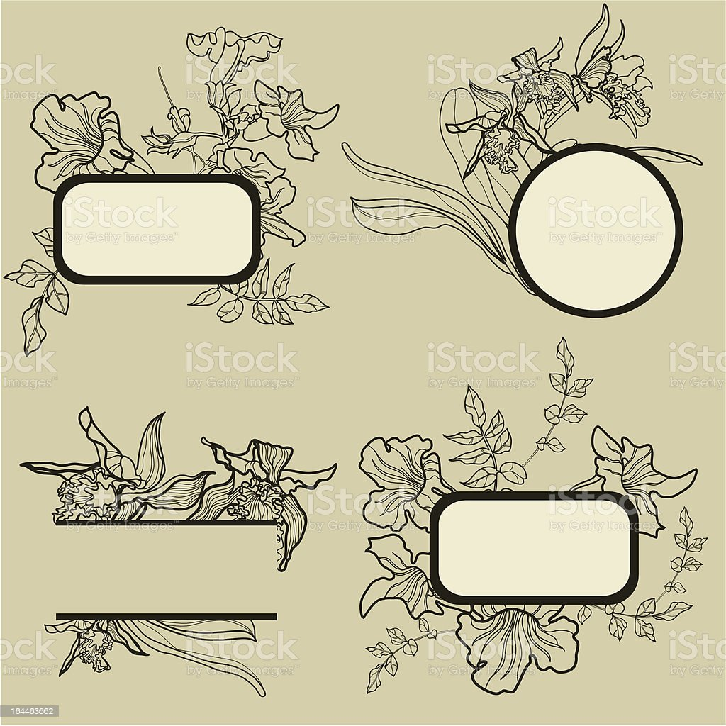 Frames with flowers royalty-free stock vector art