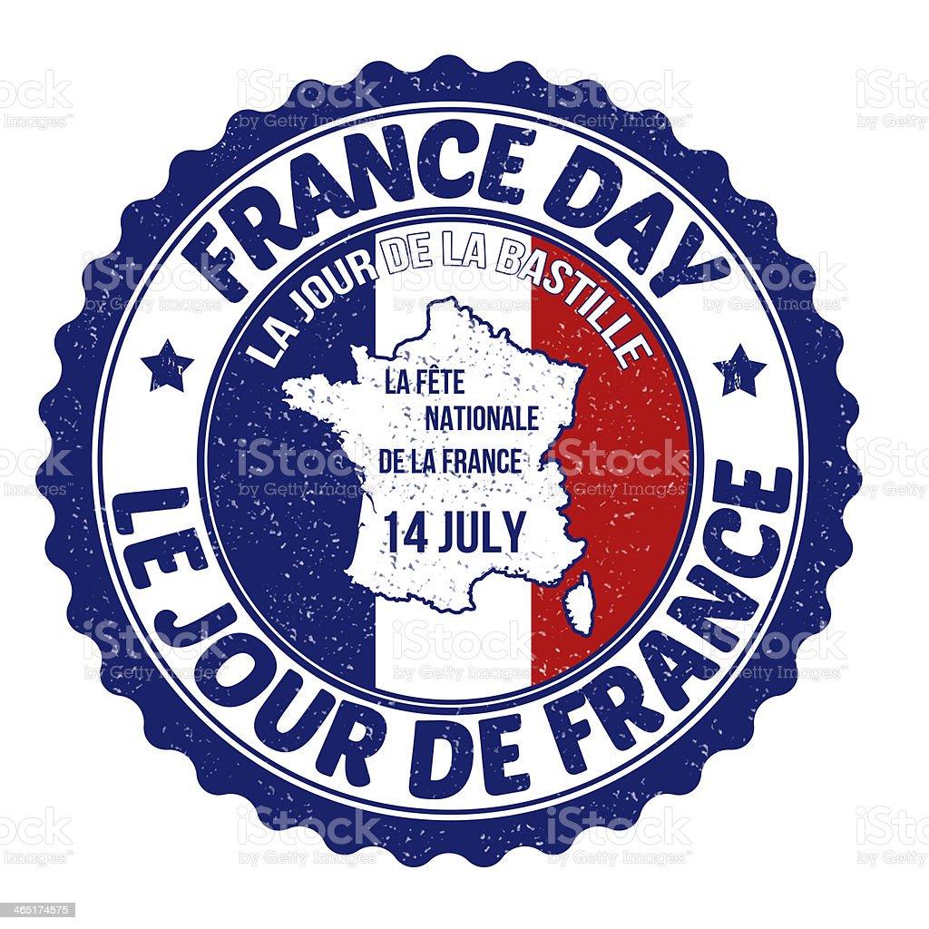 France day rubber stamp vector art illustration