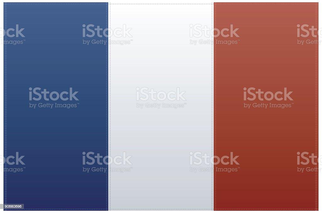 France Flag (Vector) vector art illustration