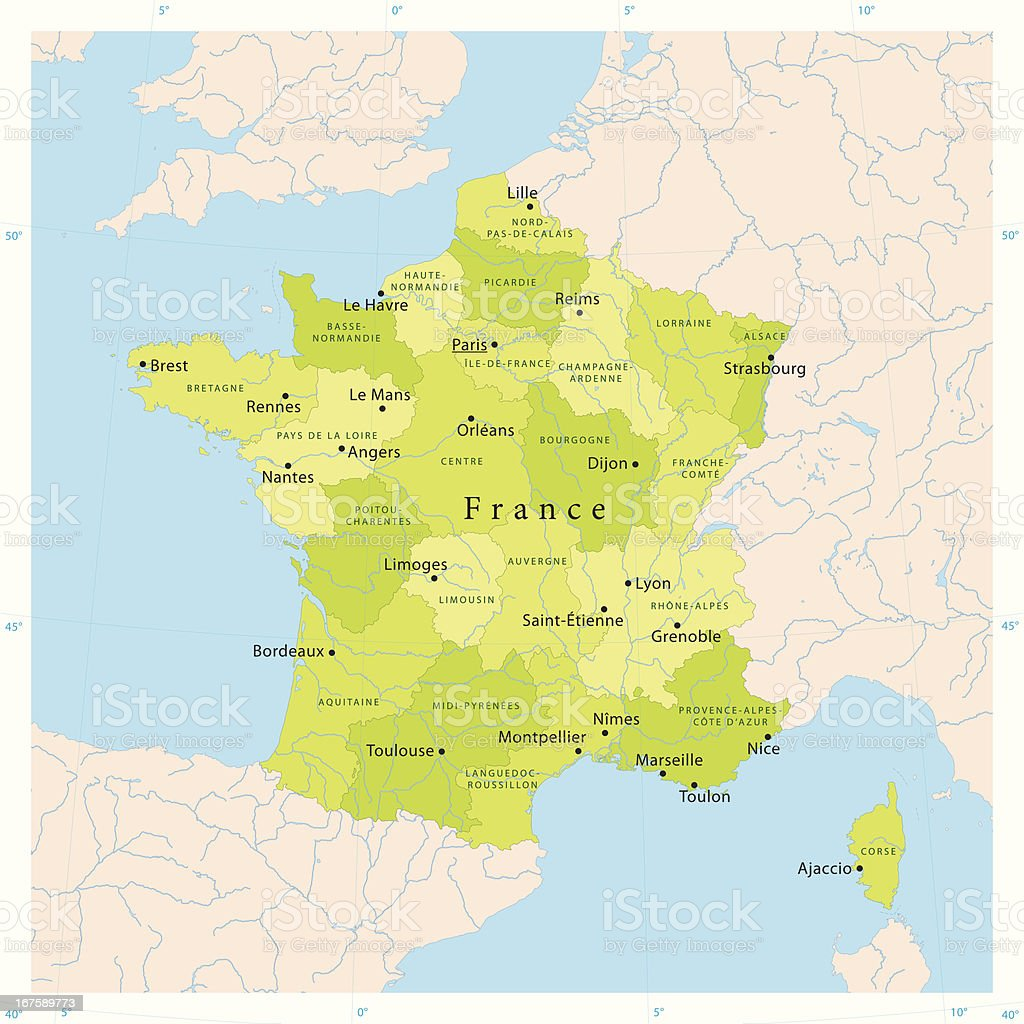 France Vector Map vector art illustration