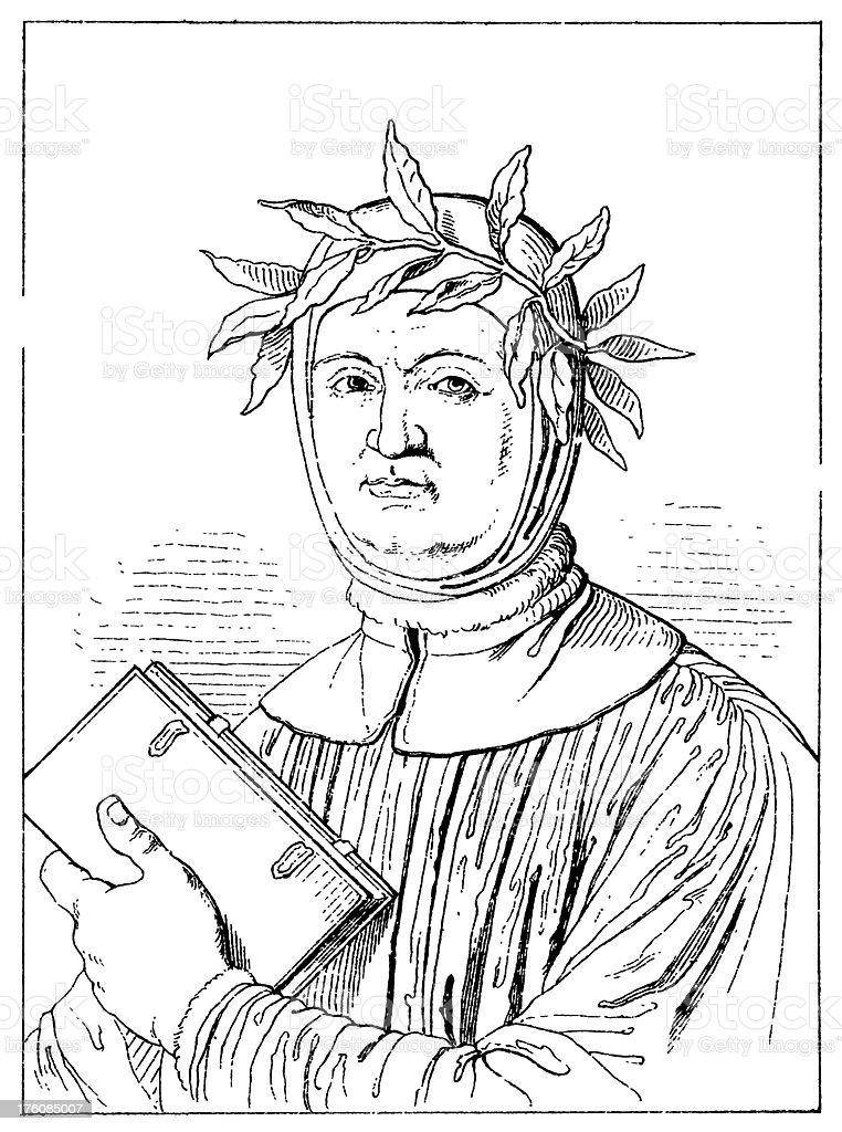 Francesco Petrarca | Antique Portrait Gallery royalty-free stock vector art