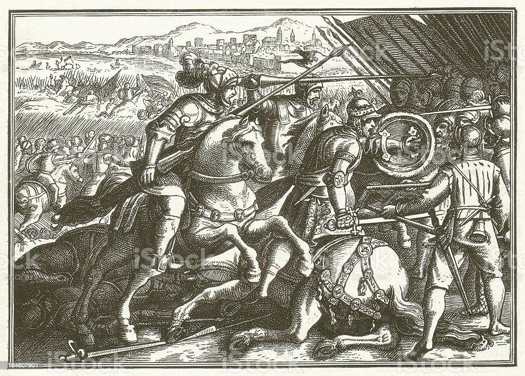 Francis I capture vector art illustration