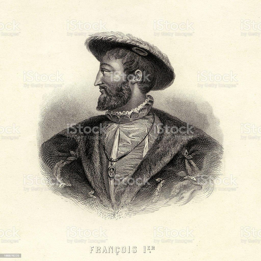 Francois 1er vector art illustration