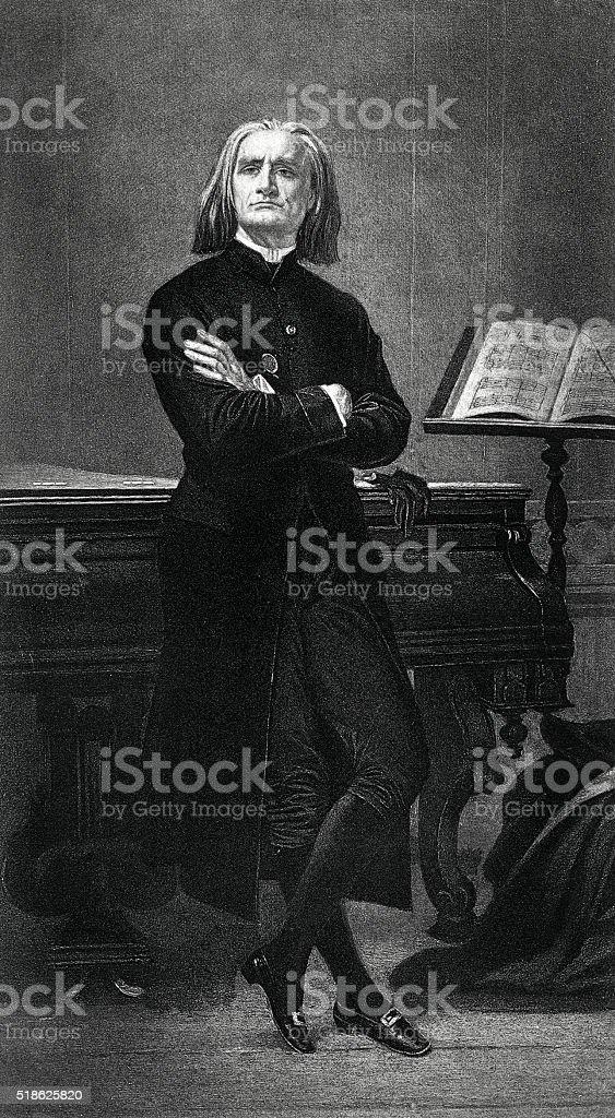 Franz Liszt - Hungarian Composer vector art illustration