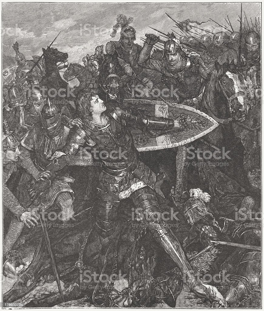 Frederick the Fair (c.1289-1330) in the Battle of Mühldorf, 1322 royalty-free stock vector art