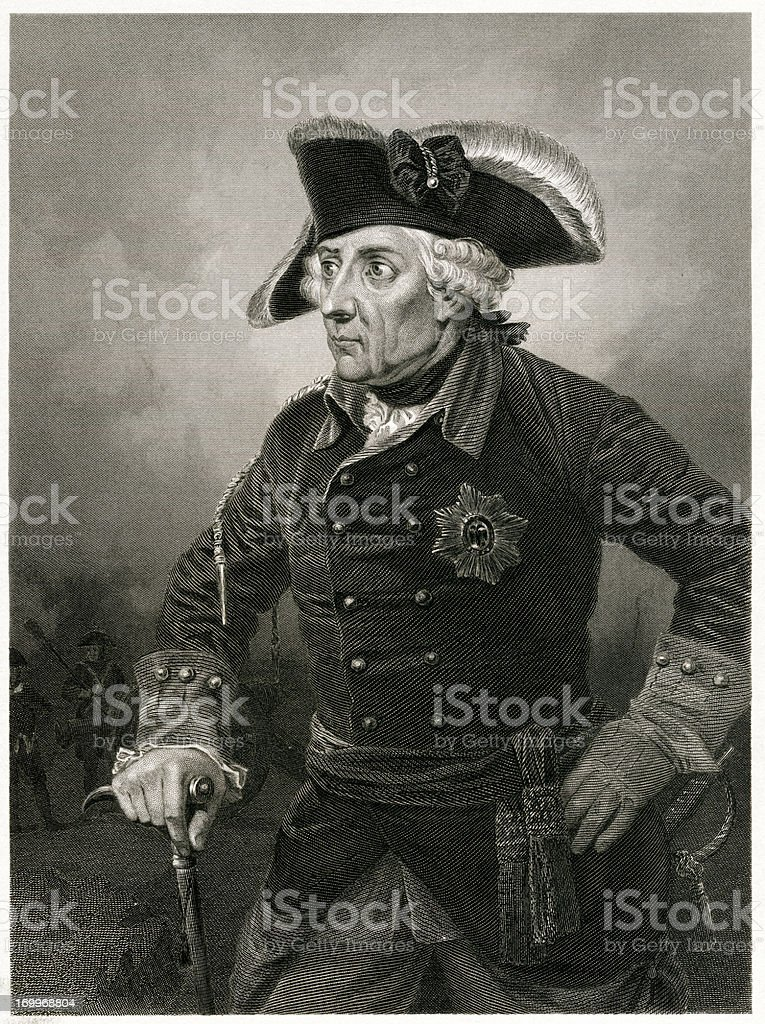 Frederick The Great royalty-free stock vector art