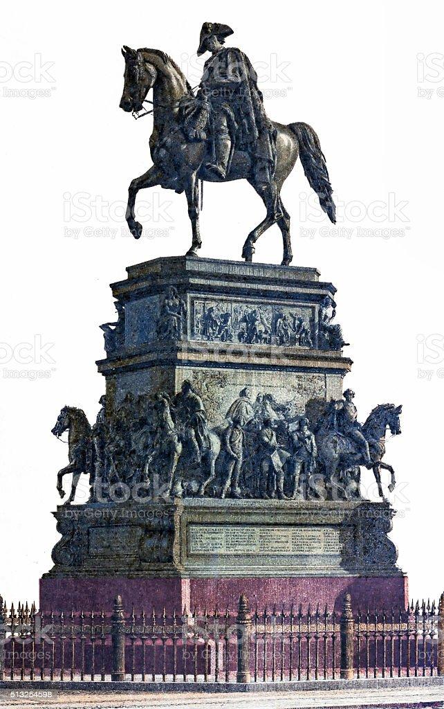 Frederick the Great vector art illustration
