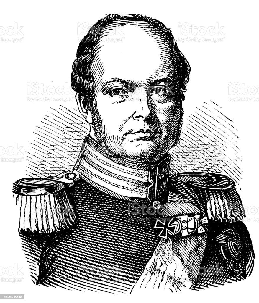 Frederick William IV (1795-1861), Prussian king vector art illustration