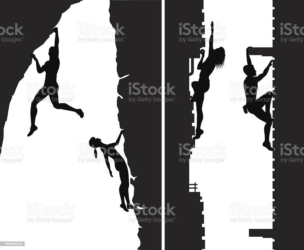 Free climbers vector art illustration