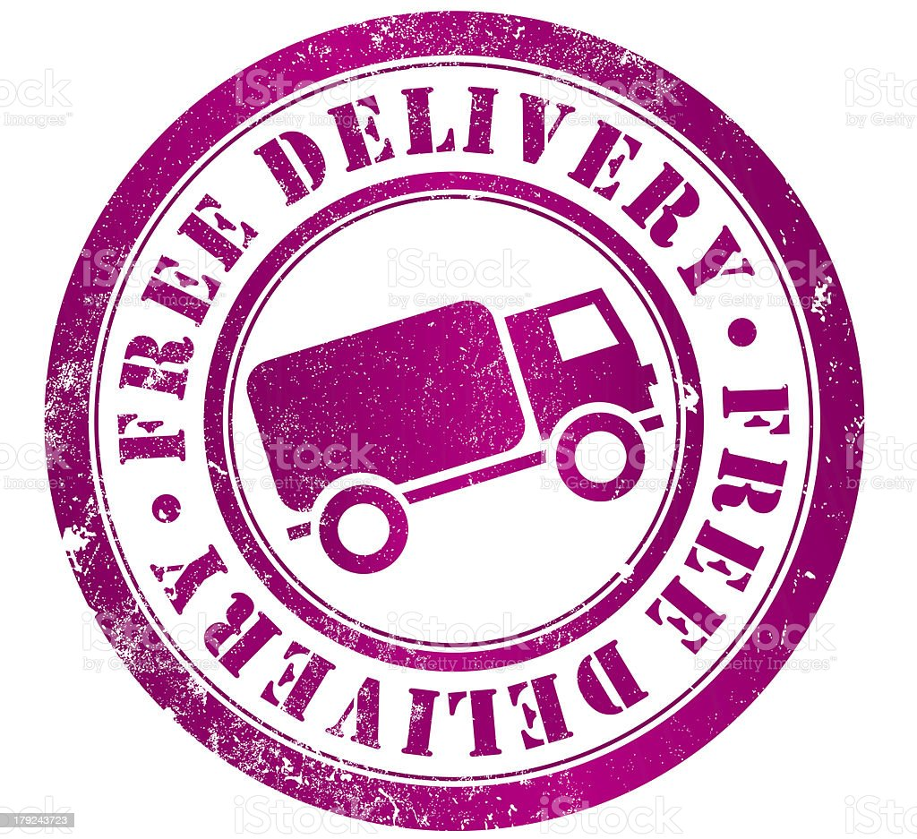 free delivery stamp royalty-free stock vector art