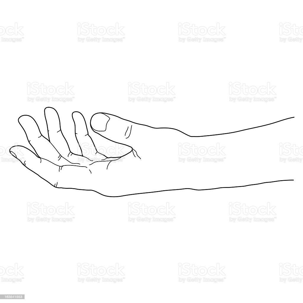 Free Hand royalty-free stock vector art