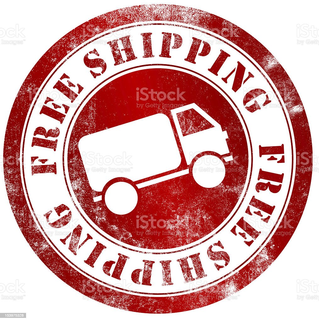 free shipping stamp royalty-free stock vector art