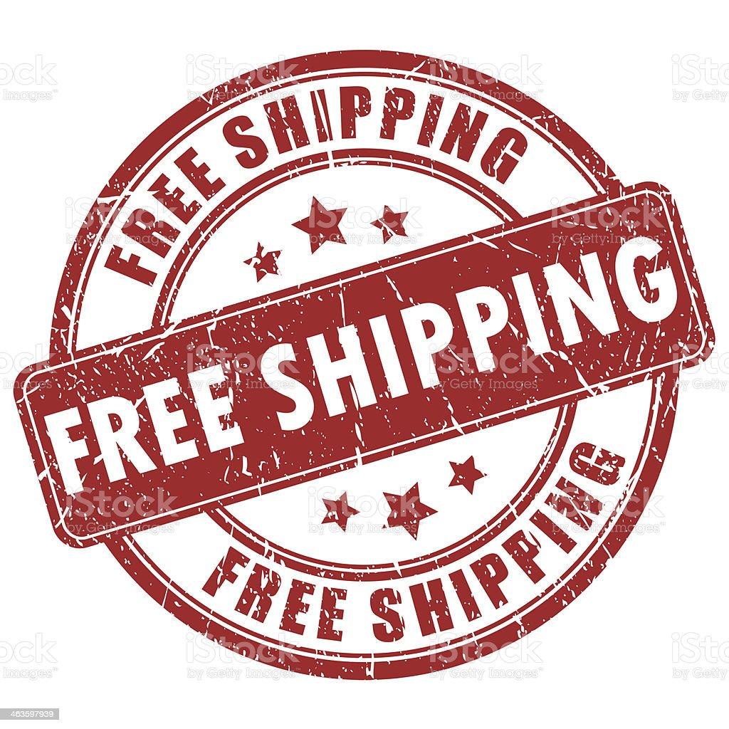 Free shipping stamp vector art illustration