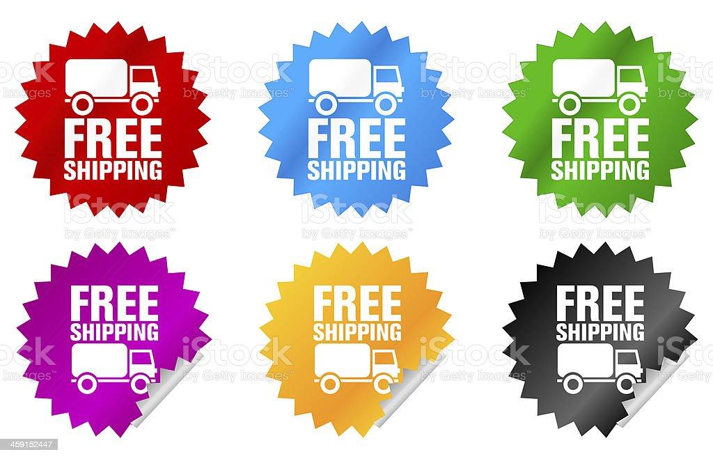 free shipping sticker royalty-free stock vector art