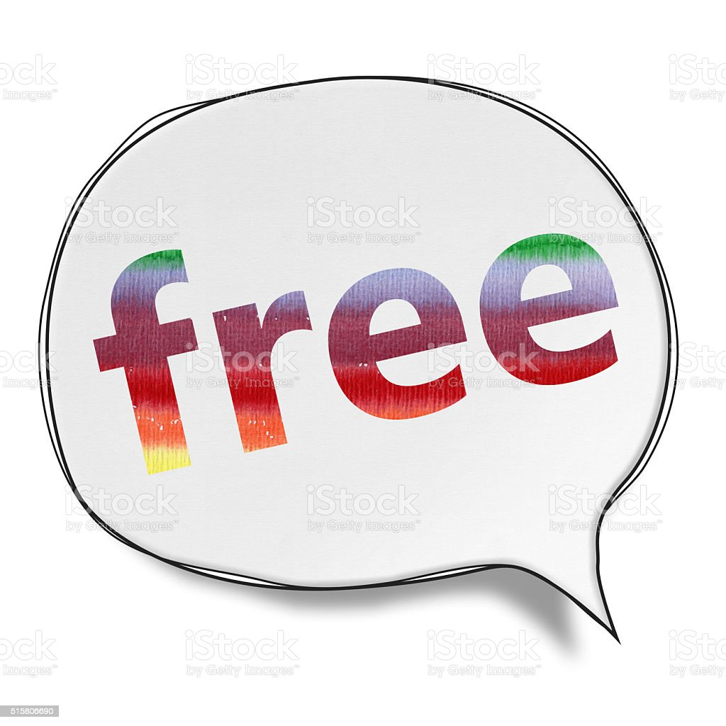 Free - Speech Bubbles (Clipping Path) vector art illustration
