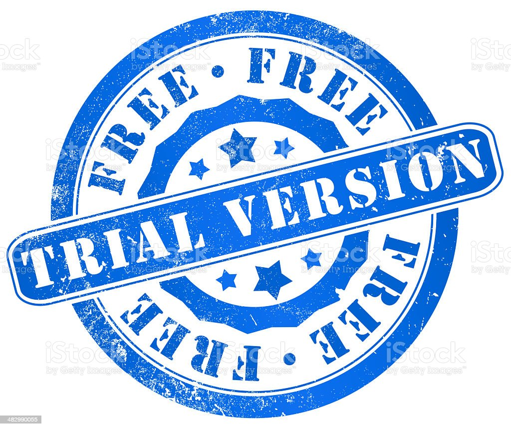 free trial version stamp royalty-free stock vector art