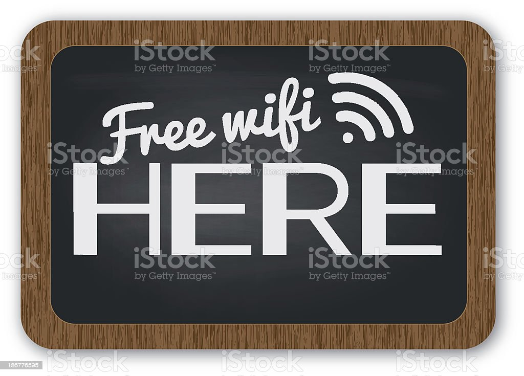 Free wifi here sign royalty-free stock vector art
