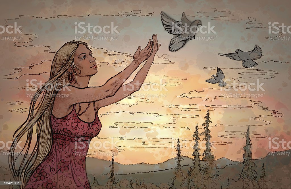 Freedom royalty-free stock vector art