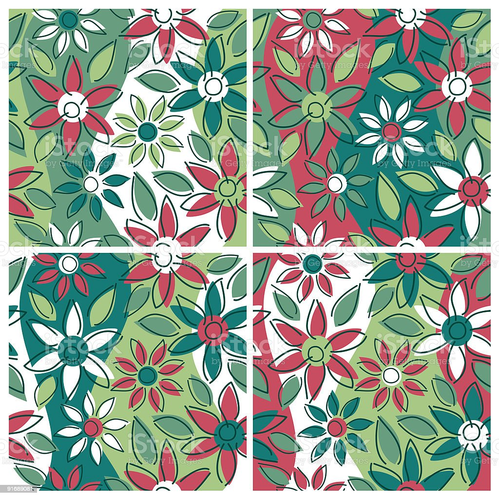 Free-Form Floral Pattern-Winter royalty-free stock vector art