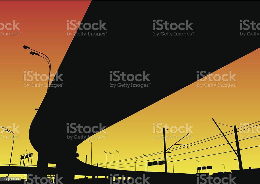 Freeway Interchange royalty-free stock vector art
