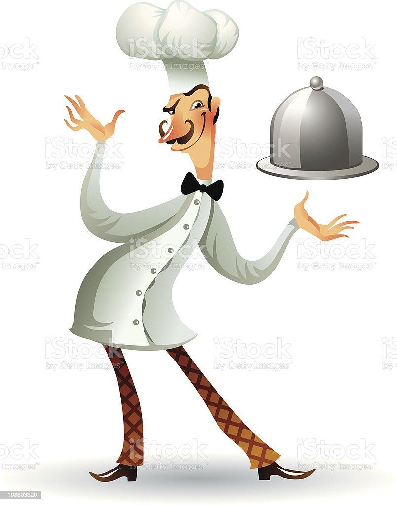 Französische küche comic  Der Französische Küchenchef Vektor Illustration 163863326 | iStock