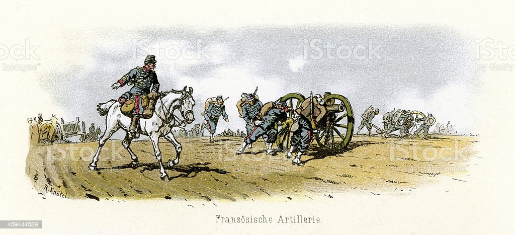 French Military - Artillery royalty-free stock vector art
