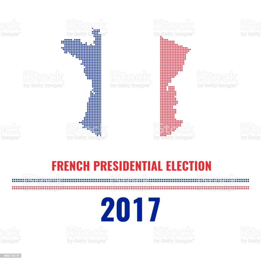 French Presidential Election Polka Dot Map Stock Vector Art - Us electoral map vector graphic