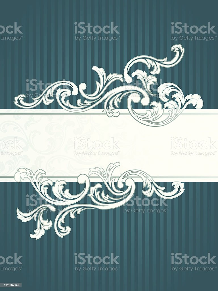 French retro banner in green royalty-free stock vector art
