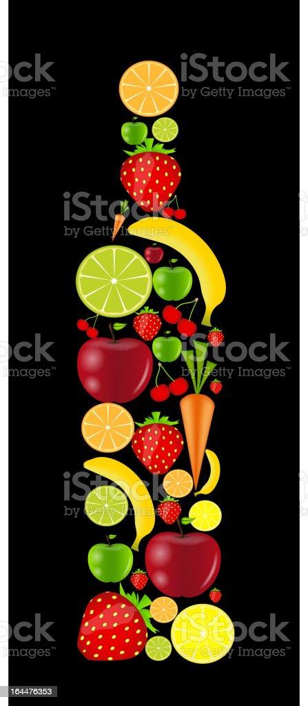 fresh fruits bottle vector illustration royalty-free stock vector art