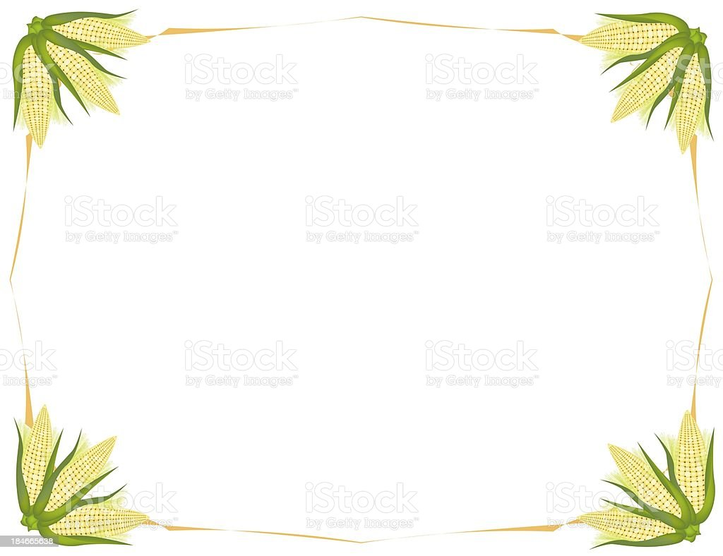 Fresh Sweet Ears of Light Yellow Corns Background royalty-free stock vector art