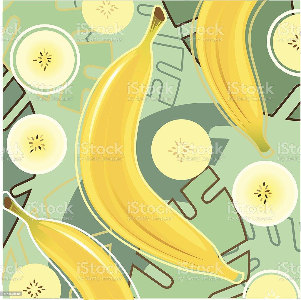 Fresh Taste of Banana vector art illustration