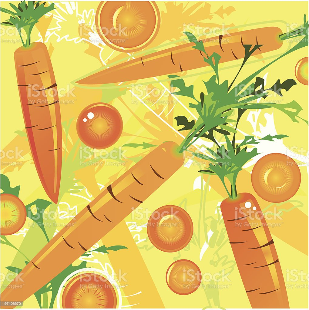 Fresh Taste of Carrots royalty-free stock vector art
