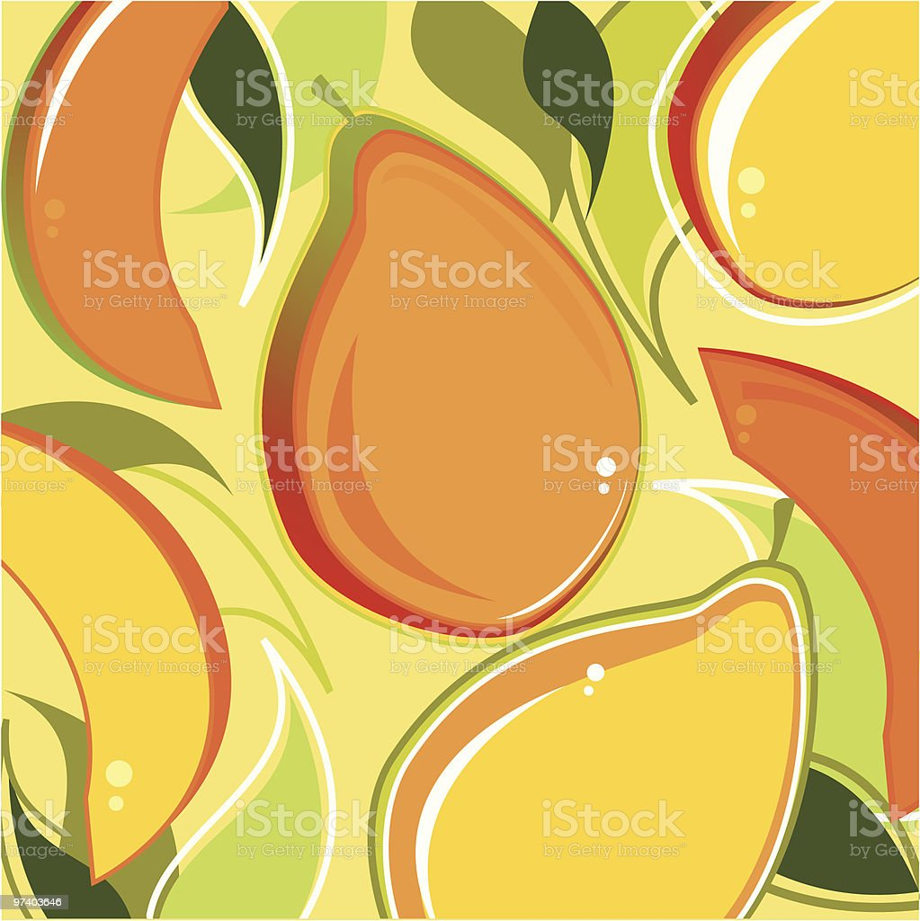 Fresh Taste of Mangos vector art illustration