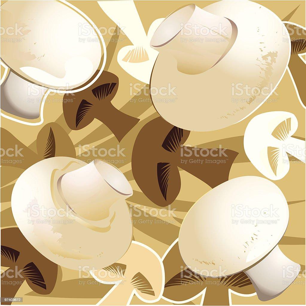 Fresh Taste of Mushroom royalty-free stock vector art