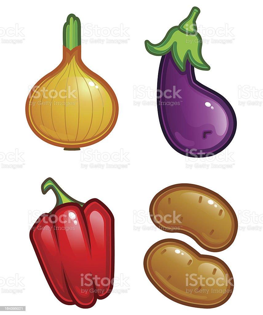 fresh vegetable royalty-free stock vector art