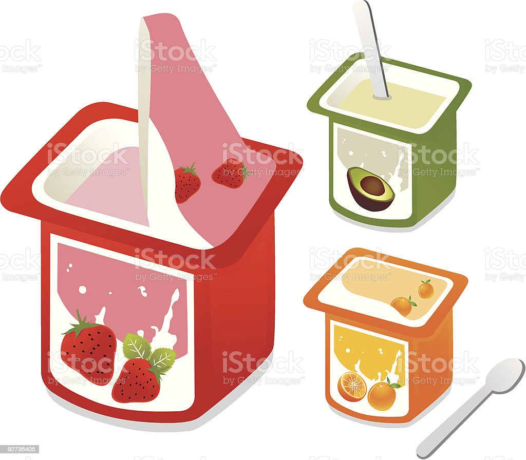 Fresh Yogurt vector art illustration