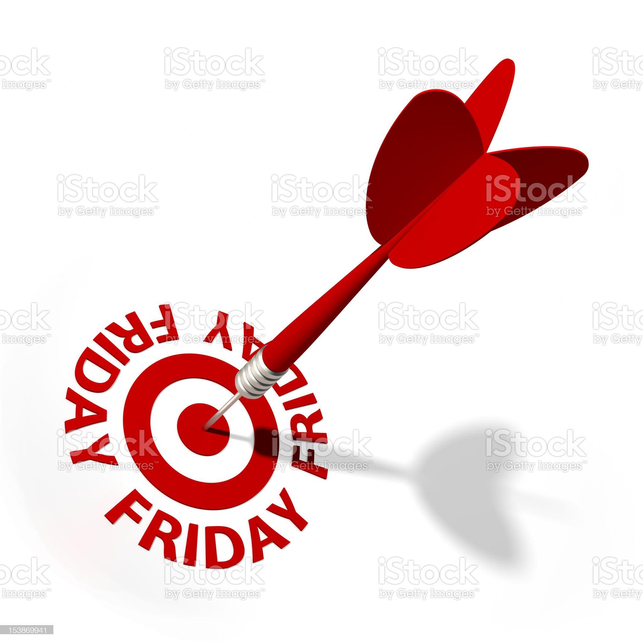 Friday Target royalty-free stock vector art