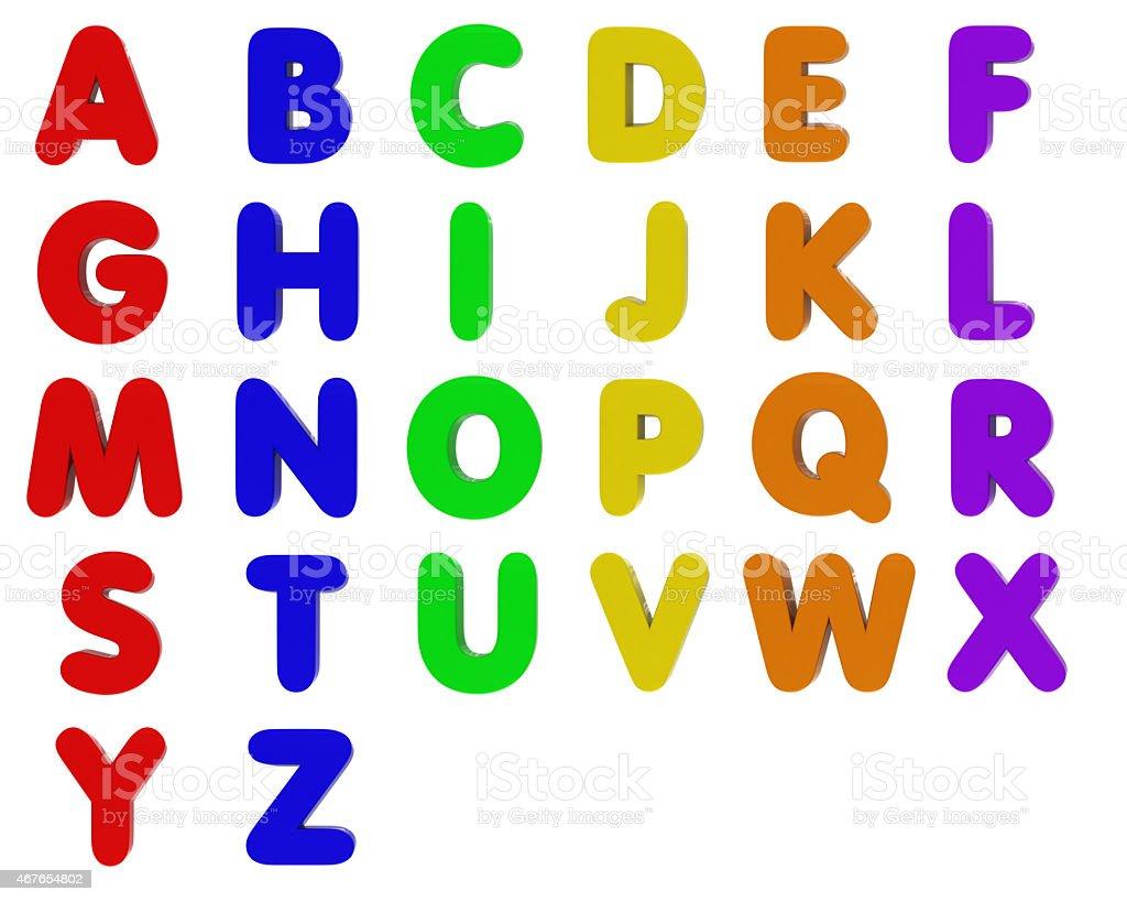 Fridge Magnet Alphabet - Capital Letters vector art illustration