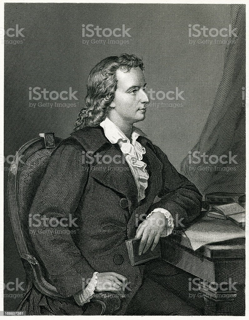 Friedrich Schiller royalty-free stock vector art