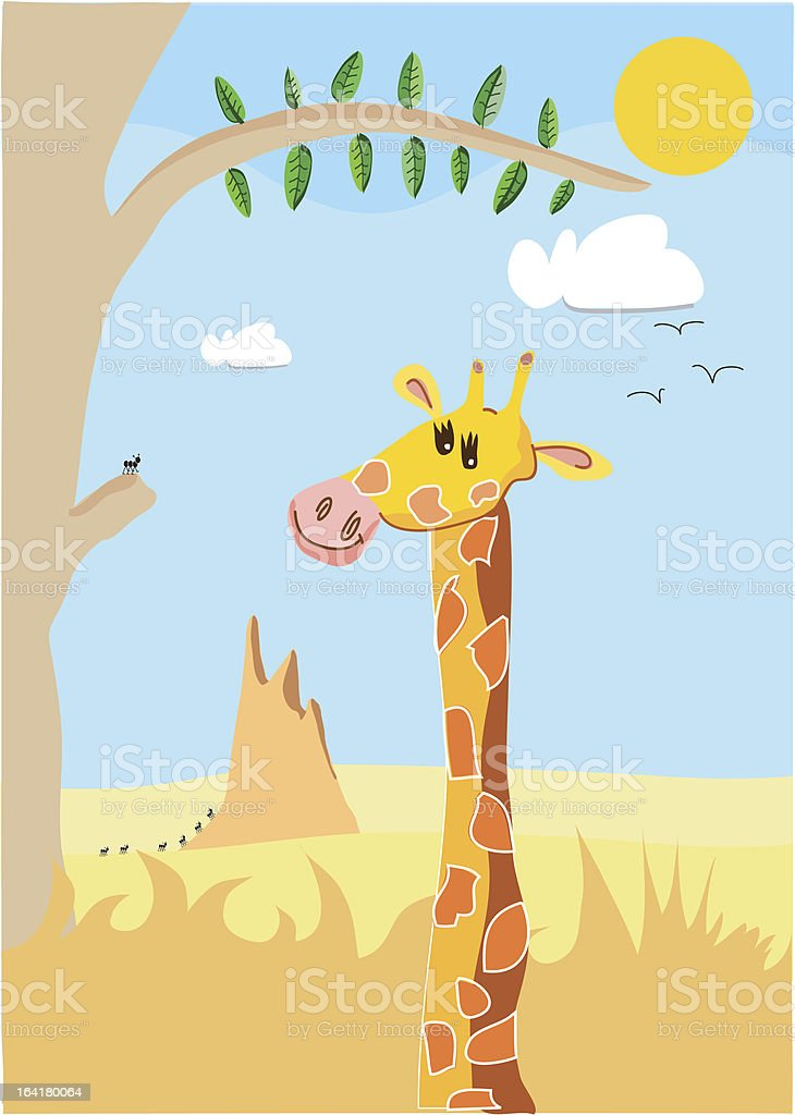 Friendly giraffe royalty-free stock vector art