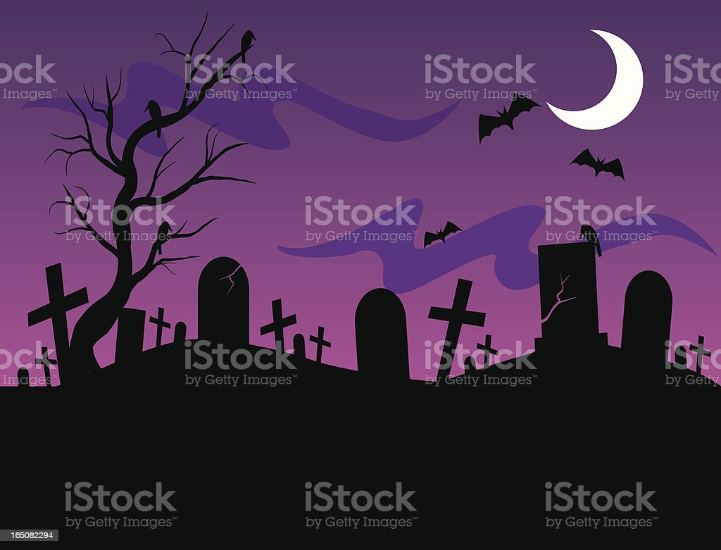 fright dusk royalty-free stock vector art